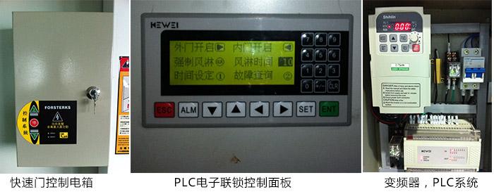 控制系统:进口微电脑变频控制电箱(三菱cpu).